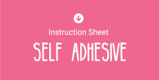 Download Self Adhesive Vinyl Instruction Sheet