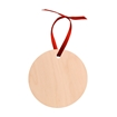 Picture of Unisub Natural Wood Ornament - Round