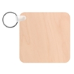 Picture of Unisub Square Natural Wood Key Chain