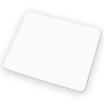 Picture of UniSub Hardboard Placemat White - 19cm x 23cm
