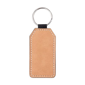 Picture of PU Leather Effect Key Ring Single Sided - Rectangle