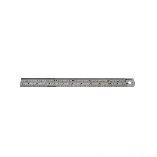 Picture of Metric / Imperial Ruler Stainless Steel 300mm
