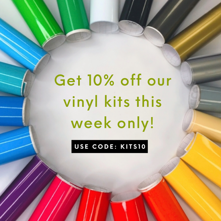 10% off our Vinyl Kits! 😯