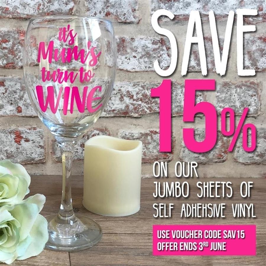 Save 15% on our Jumbo Sheets of SAV! 😯