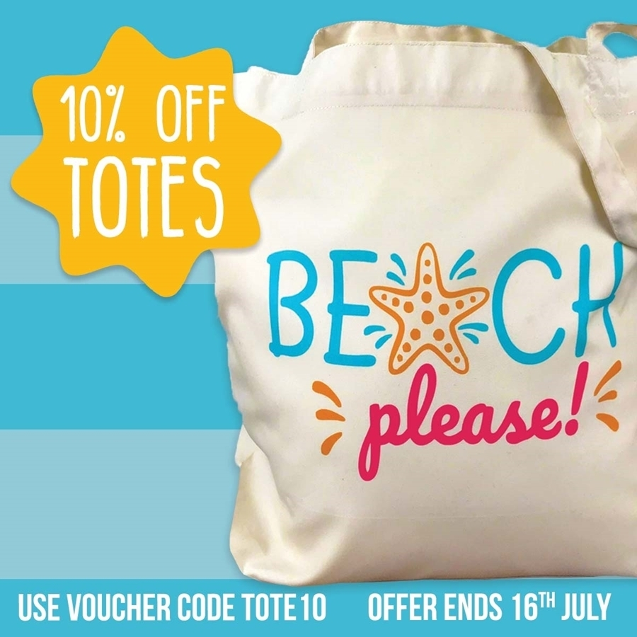 10% off Tote Bags 😁
