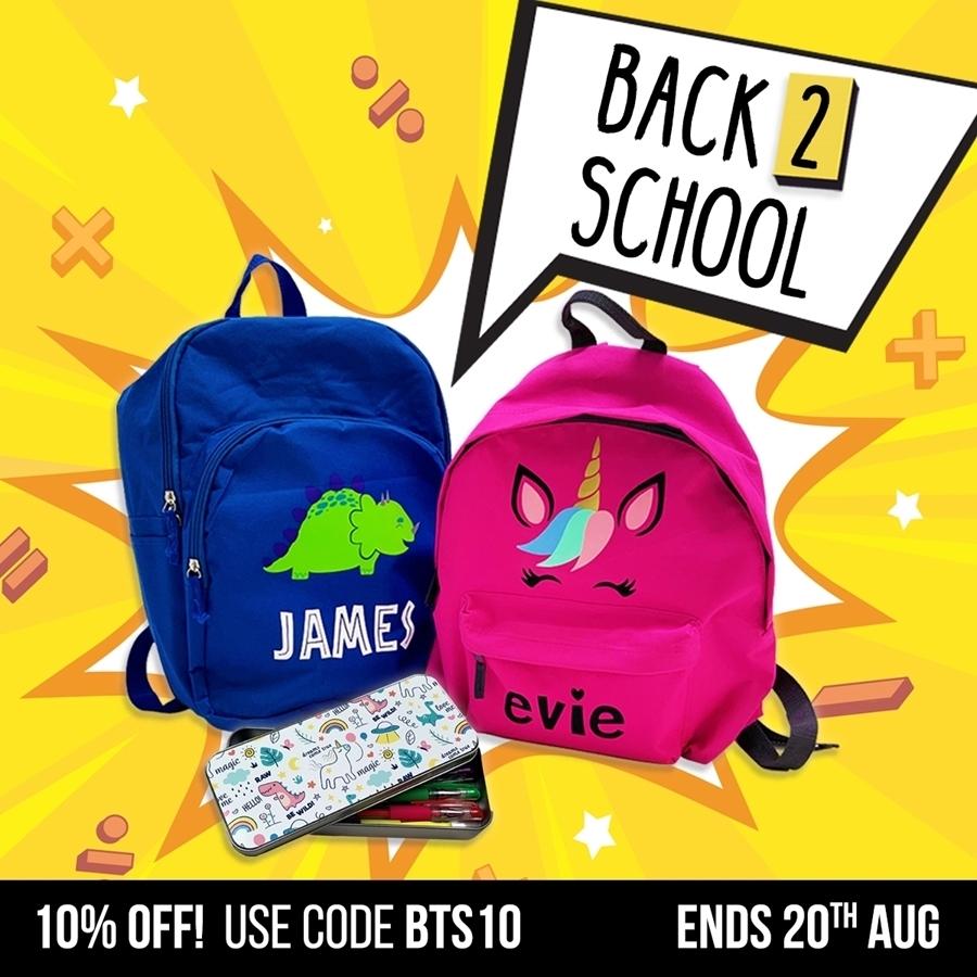10% off Back to School Essentials 🚌 📚 🎒