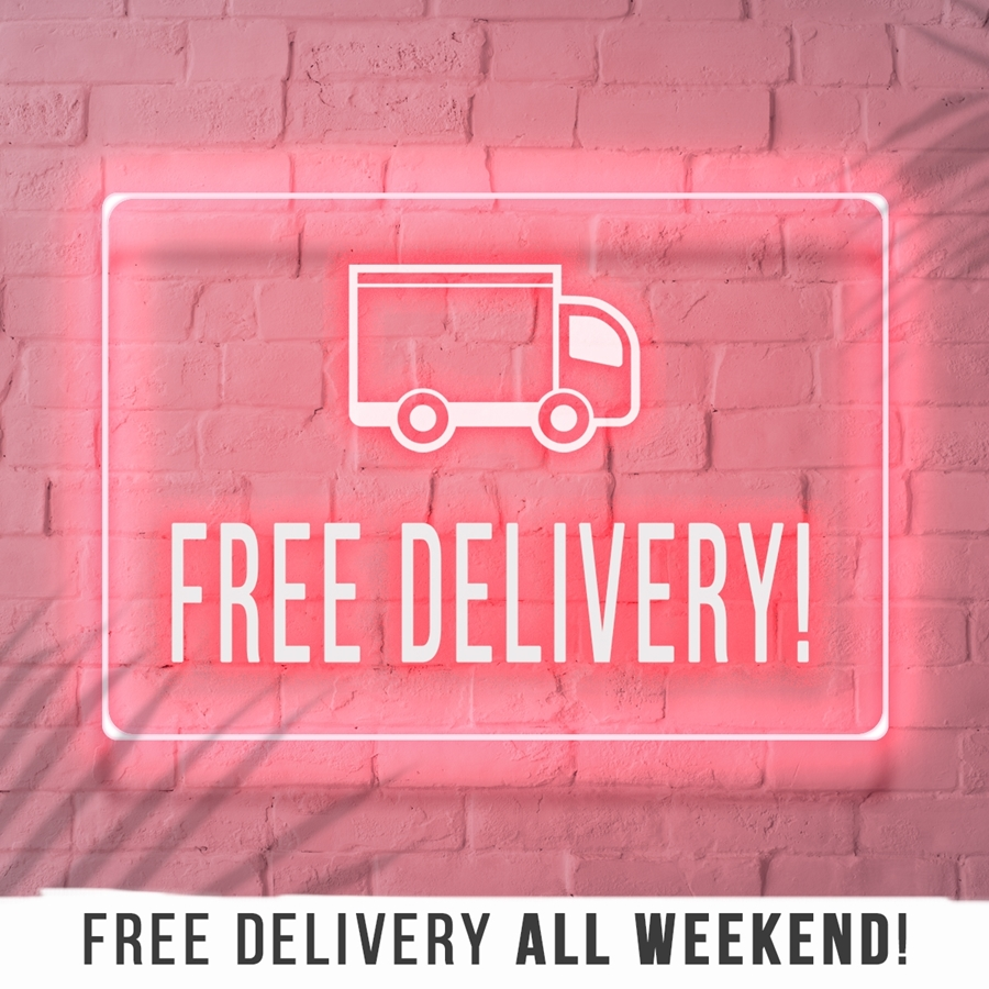 It's Back! Free Delivery Weekend! 🚚