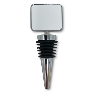 Picture of Metal Wine Bottle Stopper w/Insert - Square