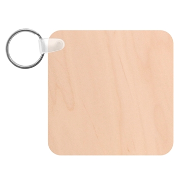 Picture of Wooden Square Keyring (Unisub)