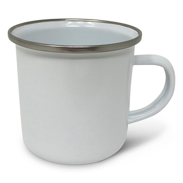 Picture of Fine Enamel Mug (Silver Rim) 10oz